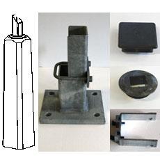Detaljer för 100 mm fyrkantsstolpe